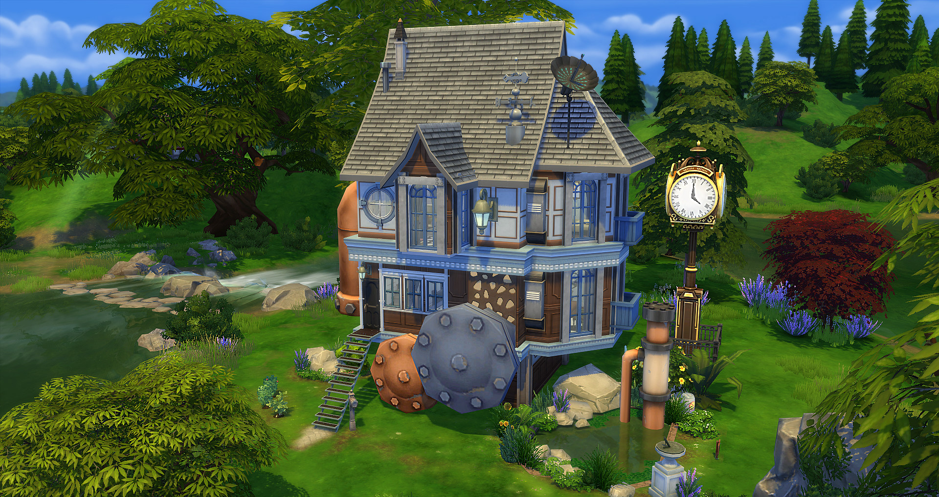 Steampunk studiosims creation for Petite maison atypique