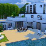 modern house sims 4