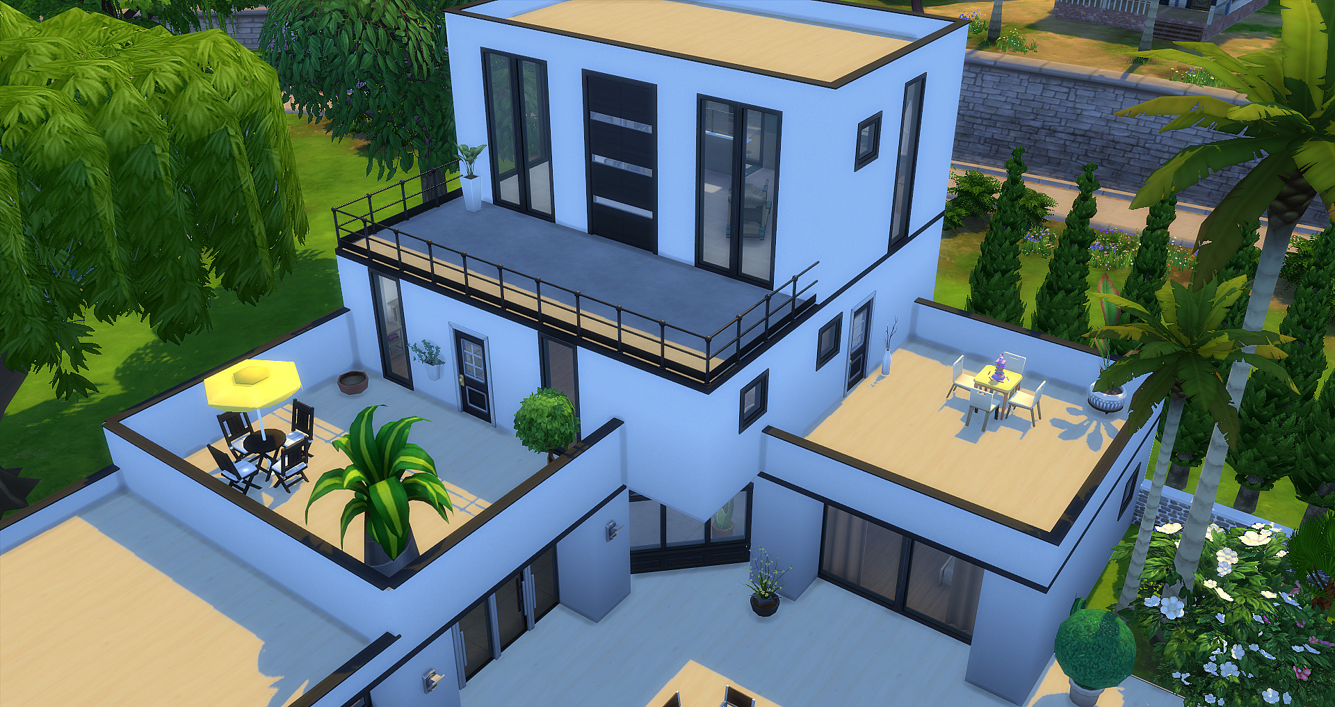 sims 4 maison moderne ventana blog. Black Bedroom Furniture Sets. Home Design Ideas