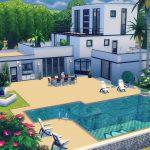 maison moderne sims 4