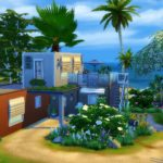 maison moderne sims 4 construction container