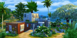 maison moderne sims 4 construction container