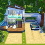 maison moderne sims 4 construction