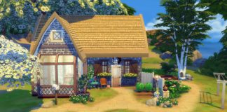 construction sims 4 starter chaumière campagne