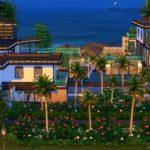 maison moderne construction sims 4 palace rêve caraibes
