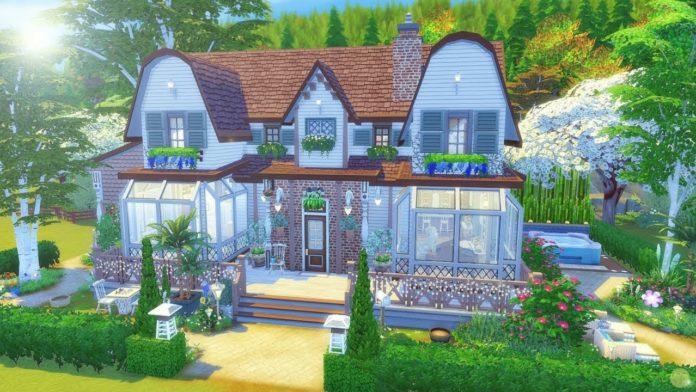 construction sims 4 campagne maison de rêve