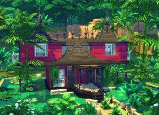 maison asiatique sims 4