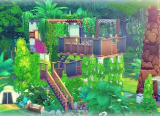 sims 4 construction maison pilotis Selvadorada jungle