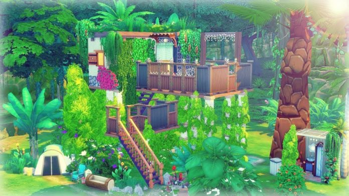 sims 4 construction maison pilotis Selvadorada jungle