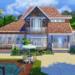 maison américaine sims 4 speed build