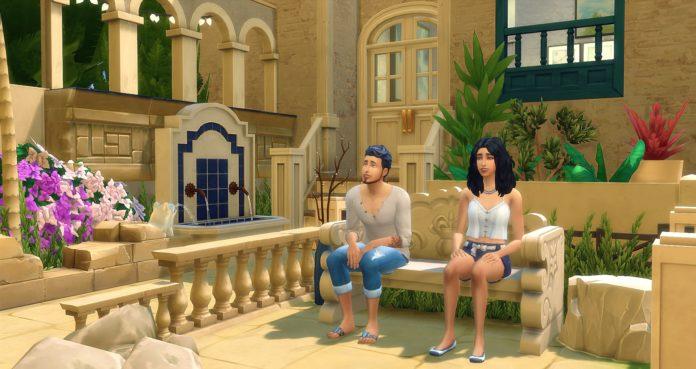couple et maison grecque sims 4