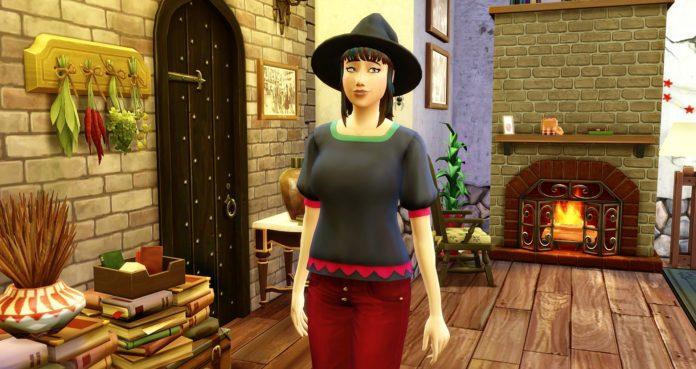 Lilith Bleuet sorcière sims 4 cas