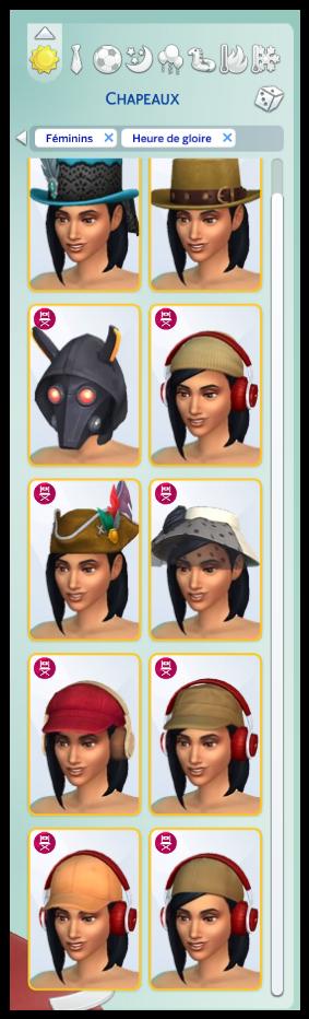 chapeaux heure de gloire