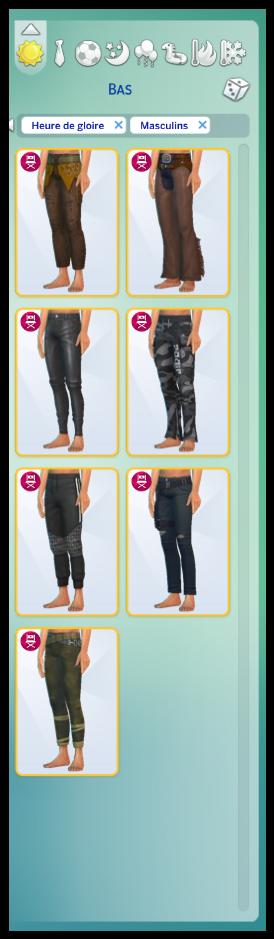 heure de gloire bas de vêtements pour les sims