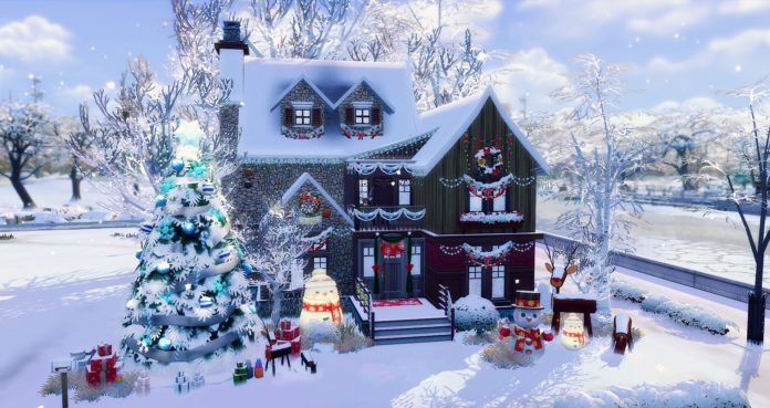 studiosimscreation maison noel sims